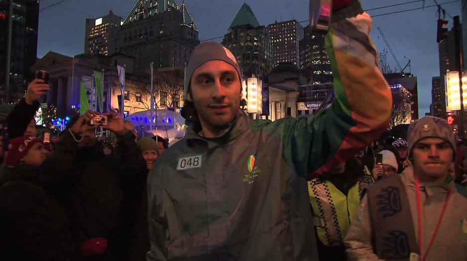 Paralympic Torch Relay: Roberto Luongo in Vancouver, British Columbia