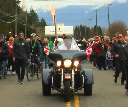 Olympic Torch Relay Day 101: Hope to Chilliwack, British Columbia