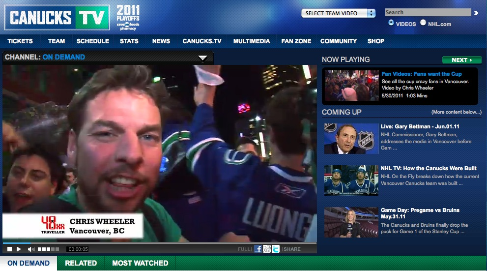 Vancouver Celebrates Canucks Advancing to Stanley Cup Final!
